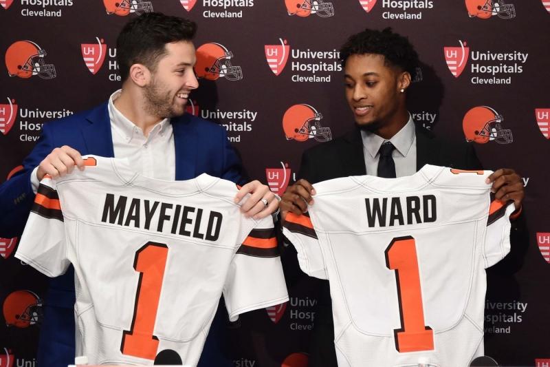 Baker Mayfield  ,Denzel Ward ,Cleveland Browns
